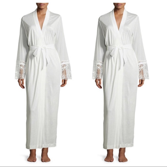 La Perla   Whisper Vestaglia Robe in White 74c9b43aa